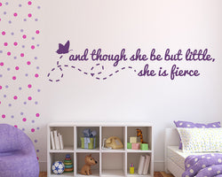 Little But Fierce Decal Vinyl Wall Sticker