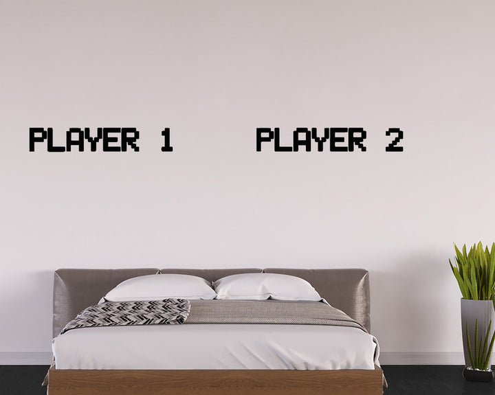 Player 1 2 Team Decal Vinyl Wall Sticker