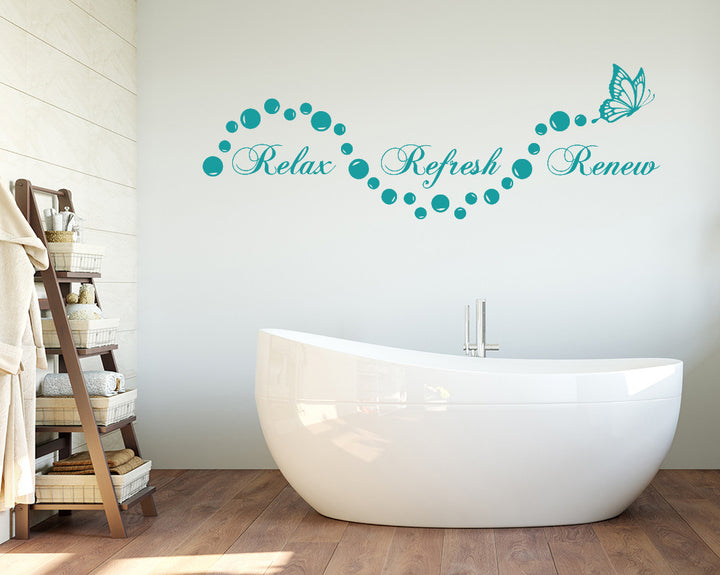 Relax Refresh Renew Decal Vinyl Wall Sticker