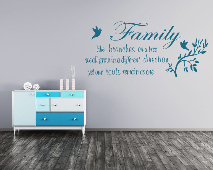 Family Roots Decal Vinyl Wall Sticker