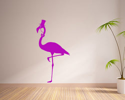 Monacle Flamingo Decal Vinyl Wall Sticker
