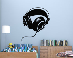 Musical Headphones Decal Vinyl Wall Sticker