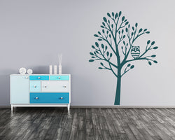 Cute Owl Tree Decal Vinyl Wall Sticker