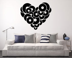Heart Music Records Decal Vinyl Wall Sticker