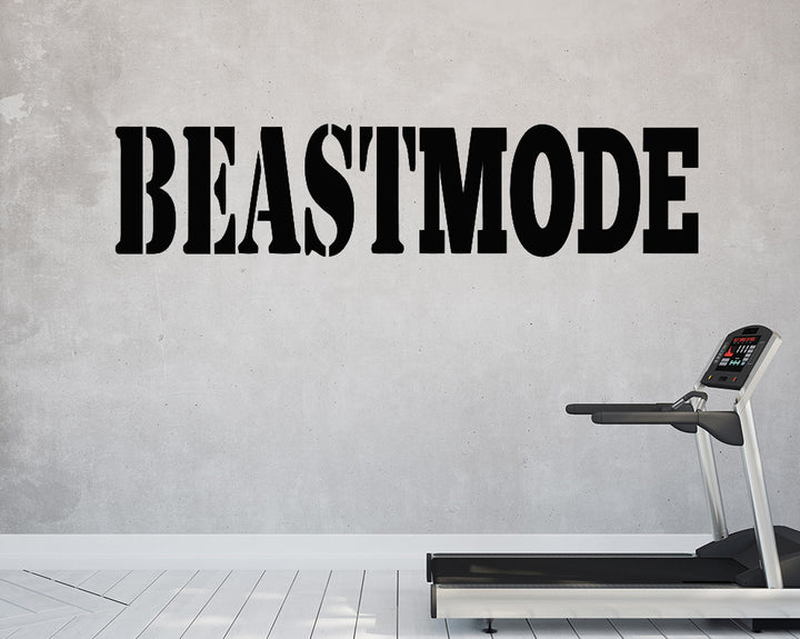 Beast Mode Decal Vinyl Wall Sticker