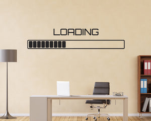 Loading Bar Decal Vinyl Wall Sticker
