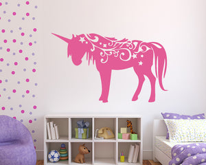 Magical Pretty Unicorn Decal Vinyl Wall Sticker