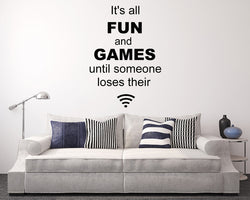 Fun And Games WiFi Decal Vinyl Wall Sticker