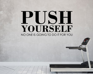 Push Yourself Motivate Decal Vinyl Wall Sticker