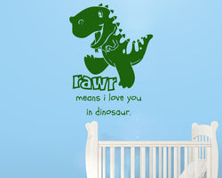 Cute Dinosaur Love You Decal Vinyl Wall Sticker