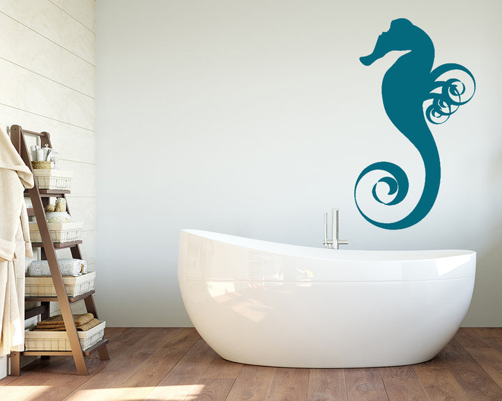 Sea Horse Swirl Decal Vinyl Wall Sticker