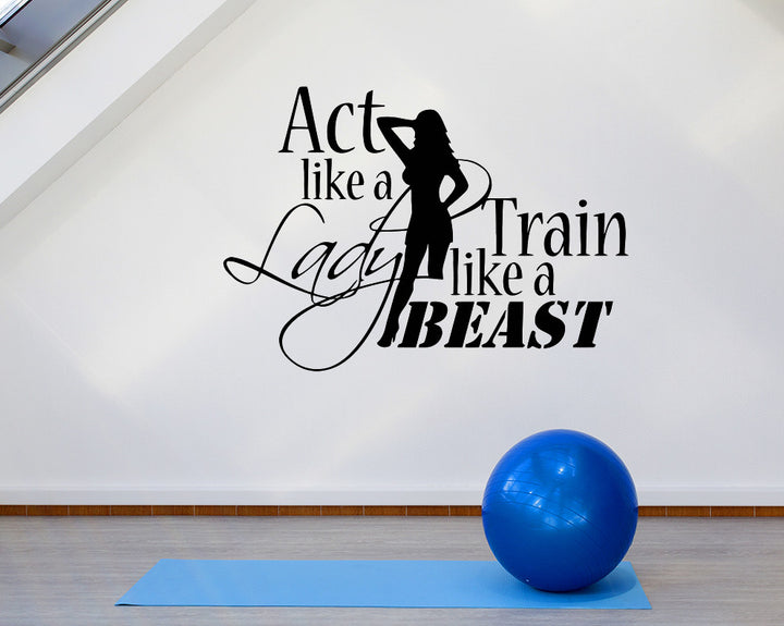 Train Like A Beast Decal Vinyl Wall Sticker
