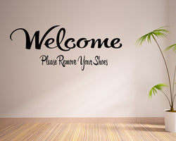 Please Remove Shoes Decal Vinyl Wall Sticker