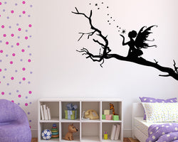 Fairy Pixie Dust Tree Decal Vinyl Wall Sticker