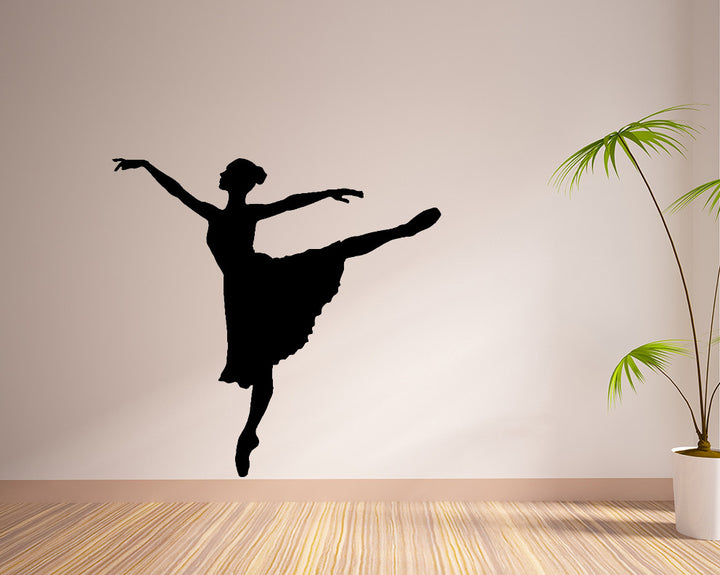 Ballet Dance Pose Decal Vinyl Wall Sticker