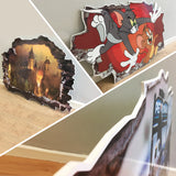 G956 Animals Cute Nursery Nature Canvas Picture Poster Wall Art 3D Stickers Room