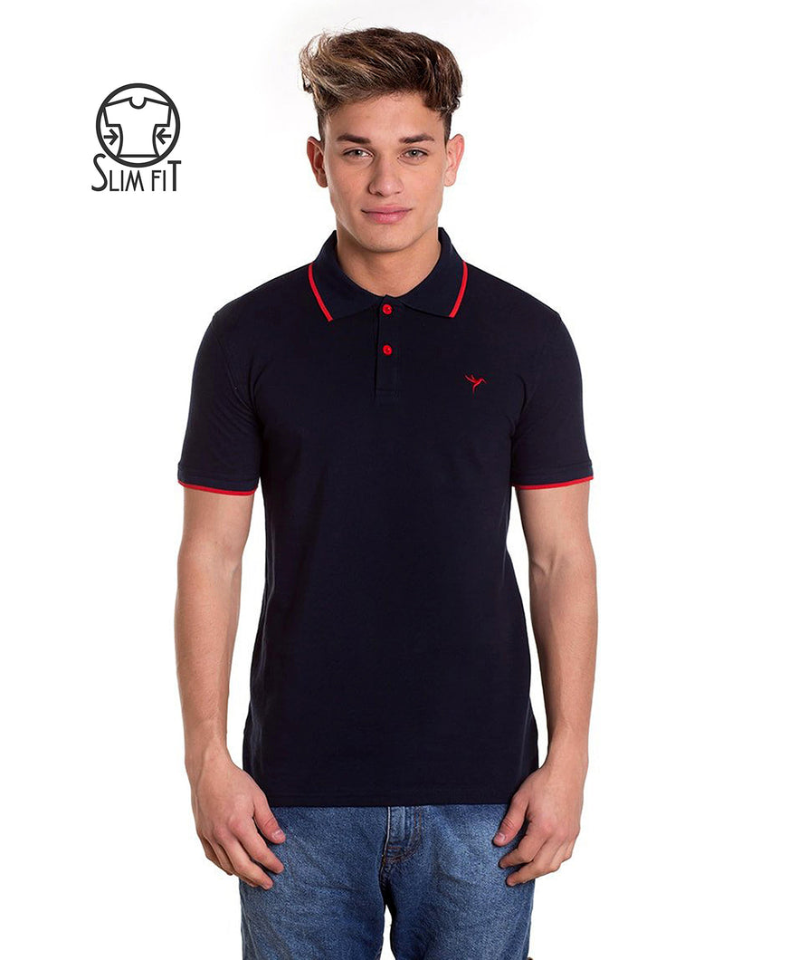 POLO BASIC BLUE & RED