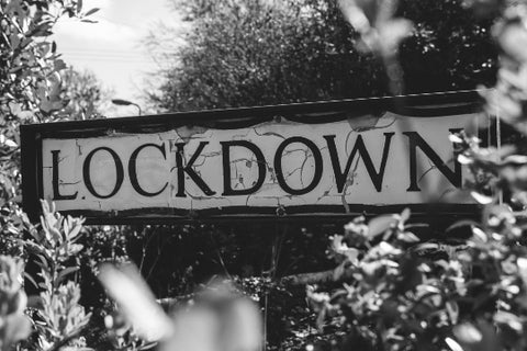 Image of sign post saying Lockdown