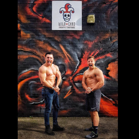 Nathan Black and Alex Burrell before a Wild Card Gym Event
