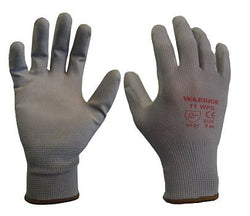 Warrior PU Coated Gloves - Grey (12 Pairs)