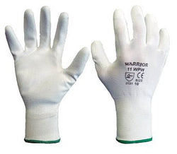 Warrior PU Coated Gloves - White (1 Pair)