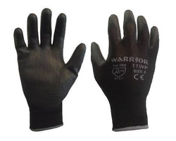 PU Coated Polyester Gloves - Black (1 Pair)