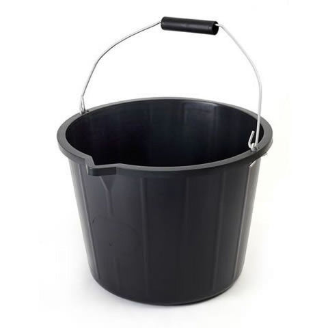 Black Builders Bucket - 14 Litre