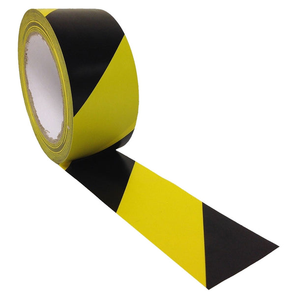 Hazard Floor Marking Tape Black & Yellow 50mm x 33m