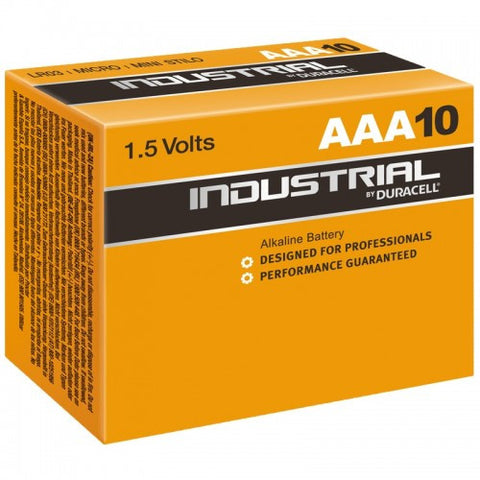 Duracell Industrial AAA Batteries LR03 ID2400 Batteries | Box of 10
