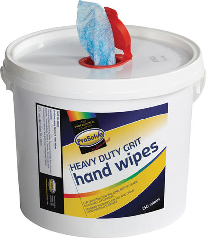 ProSolve™ Heavy Duty Industrial Grit Hand Wipes (Bucket 150)