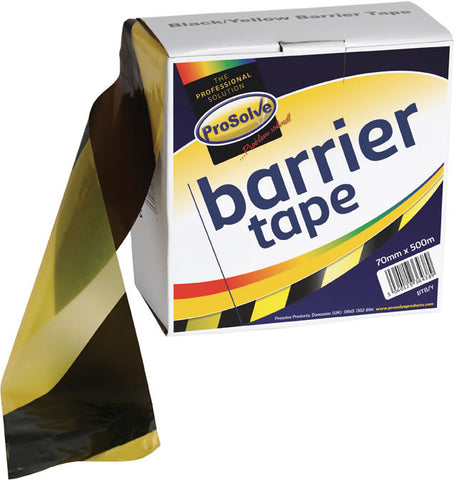 Non-Adhesive Barrier Tape Black & Yellow - 70mm x 500m