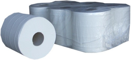 Centrefeed Rolls 2ply White - 150m - 6 Pack