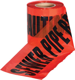 Underground Warning Tape - Sewer Pipe Below - 150mm x 365m