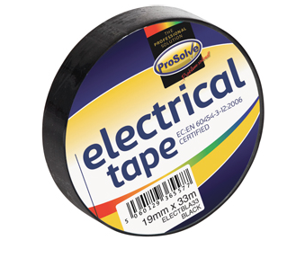 ProSolve™ Electrical PVC Insulation Tape - Black - 19mm x 33m