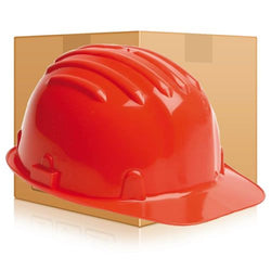 Safety Helmet Hard Hat - Red - Box of 24 (Conforms to EN397)