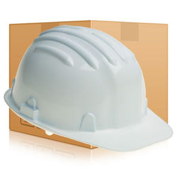 Safety Helmet Hard Hat - White - Box of 24 (Conforms to EN397)