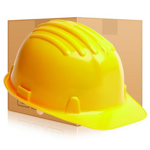 Safety Helmet Hard Hat - Yellow - Box of 24 (Conforms to EN397)