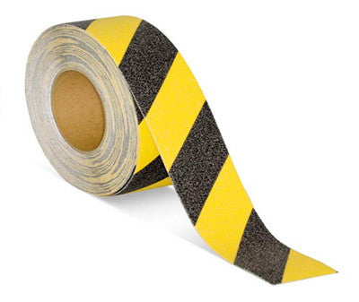 Anti Slip Tape - Black & Yellow - 100mm x 20m