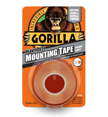 Gorilla Heavy Duty Double Sided Mounting Tape 25.4mm x 1.52m