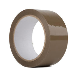 Brown Packaging Parcel Tape - 48mm x 66m (Buff)