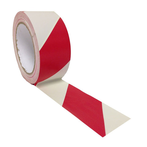 Hazard Floor Marking Tape Red & White 50mm x 33m