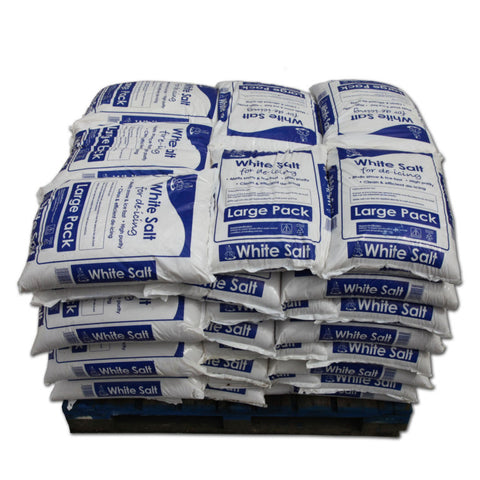 Full Pallet of White De-Icing Rock Salt 25kg x 42 Bags