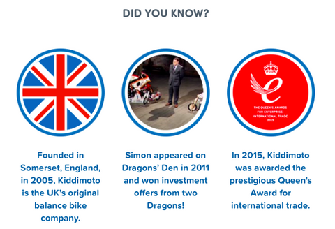 Kiddimoto Interesting Facts