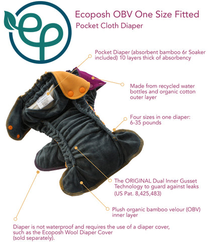 Ecoposh OBV One Size Fitted Cloth Diaper