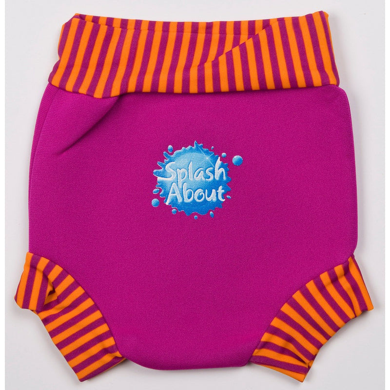 Splash About - Happy Nappy (Pink/Mango Stripe Rib)-Binky Boppy