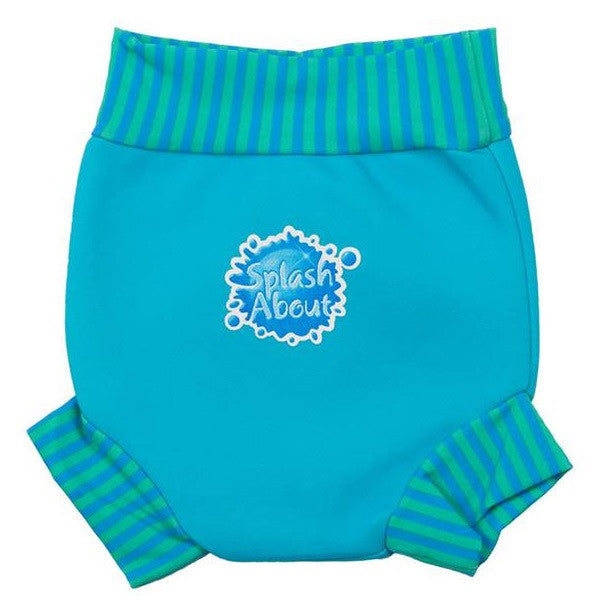 Splash About - Happy Nappy (Turquoise/Blue Lagoon Rib)-Binky Boppy