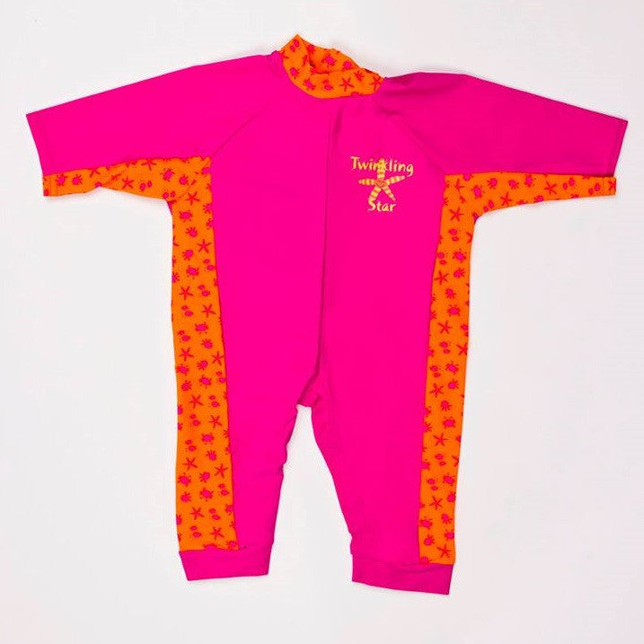 Splash About - All-in-One Suit: Bobbing Along Pink L-Binky Boppy