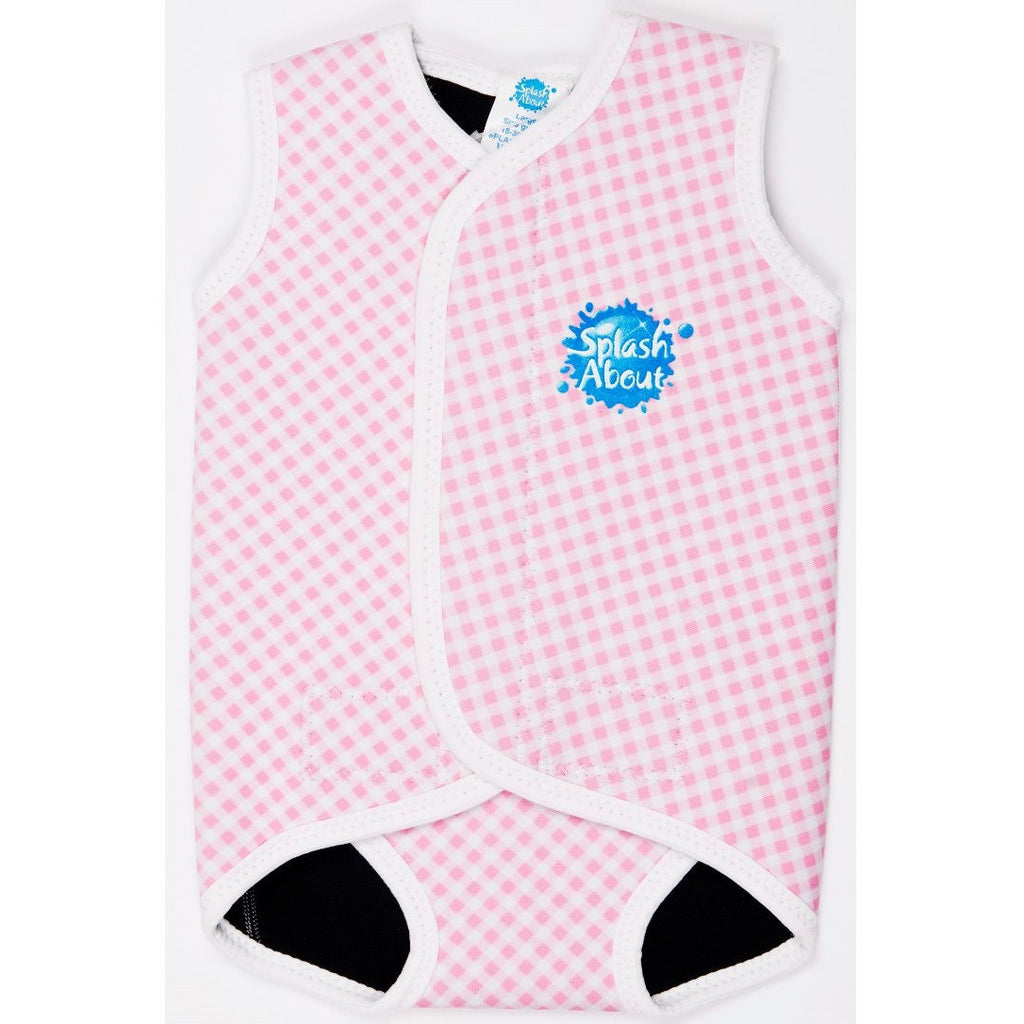 Splash About - Baby Wrap (Pink Gingham)-Binky Boppy