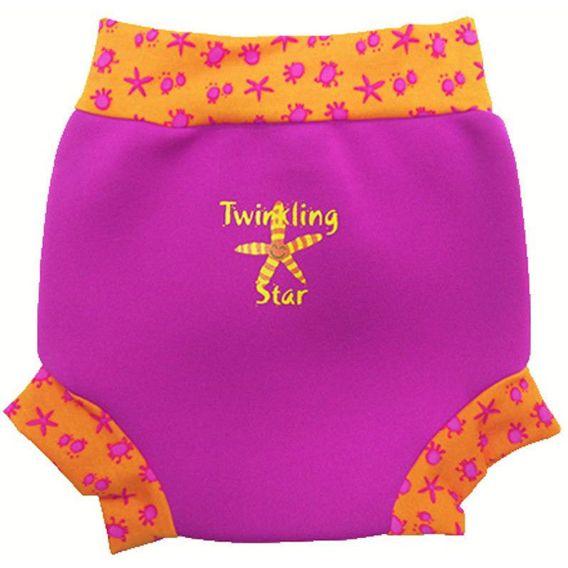 Splash About - Happy Nappy (Pink/Bobbing Along Rib)-Binky Boppy