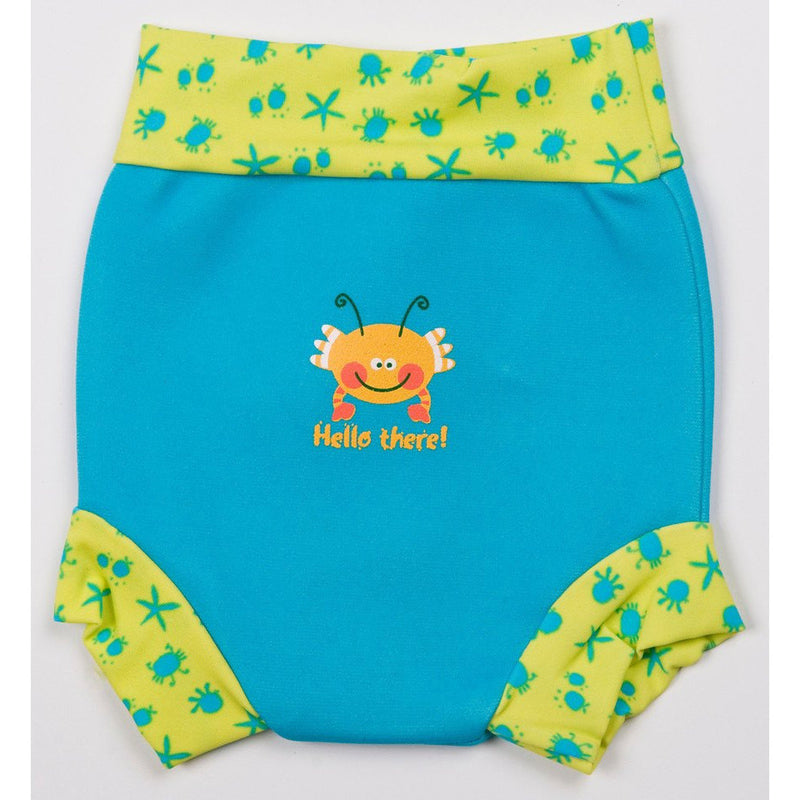 Splash About - Happy Nappy (Turquoise/Bobbing Along Rib)-Binky Boppy